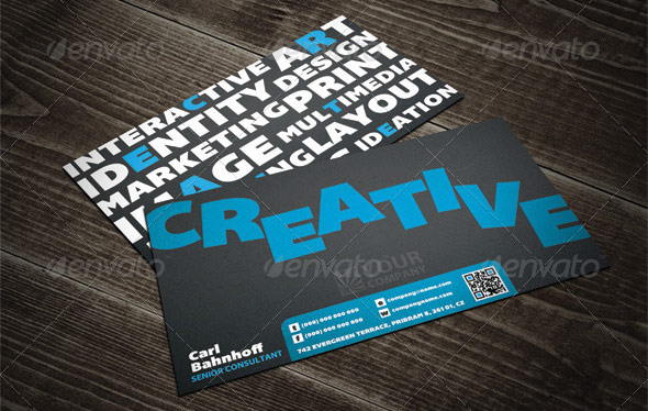 Creative Keywords QR Business Card