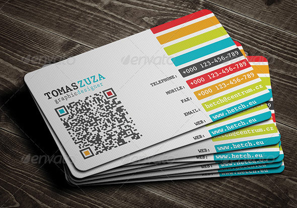 QR Code Business Card Templates Web Graphic Design Bashooka - Professional business card design templates