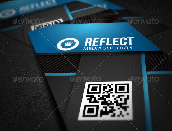25 qr code business card templates web graphic design bashooka information technology business card flashek Images