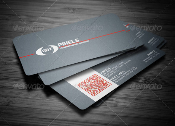 QR Code Business Card Templates Web Graphic Design Bashooka - Business card template indesign