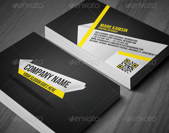 QR Code Business Card Templates Web Graphic Design Bashooka - Awesome business cards templates