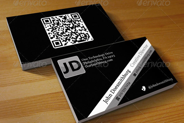 QR Code Business Card - Unlimited Colors