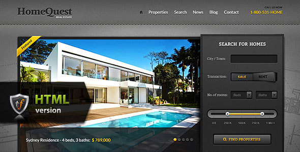 HomeQuest - Real Estate HTML Theme