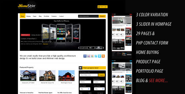 Home Star - Real Estate & Blog Business Template