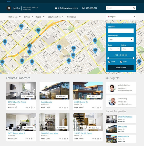Realia - Retina Responsive Real Estate Template