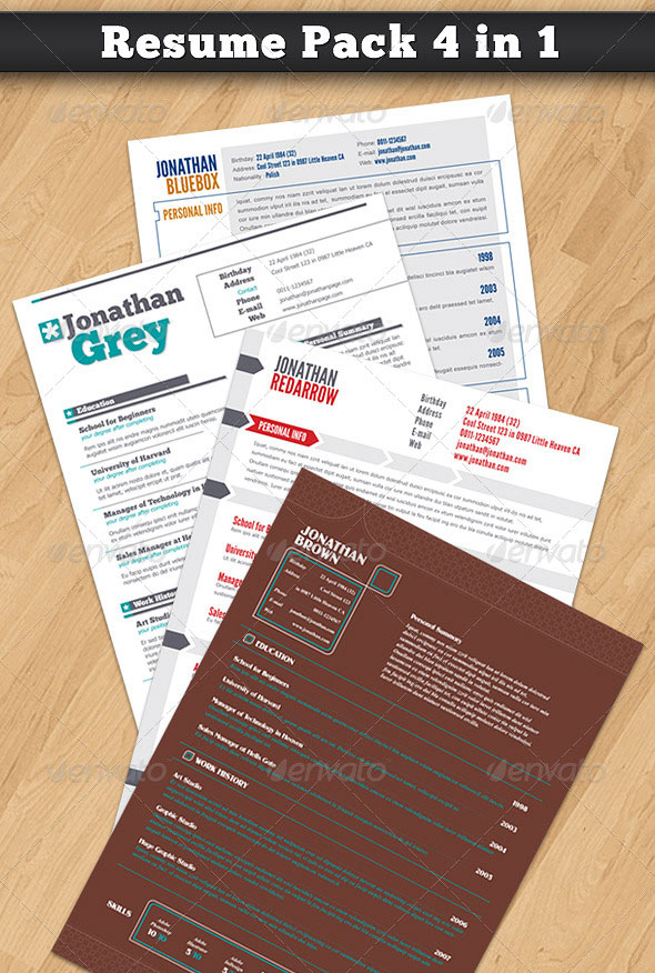 Resume Pack 4 in 1