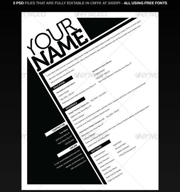 resumes 5 pack - Awesome Resume Templates 2