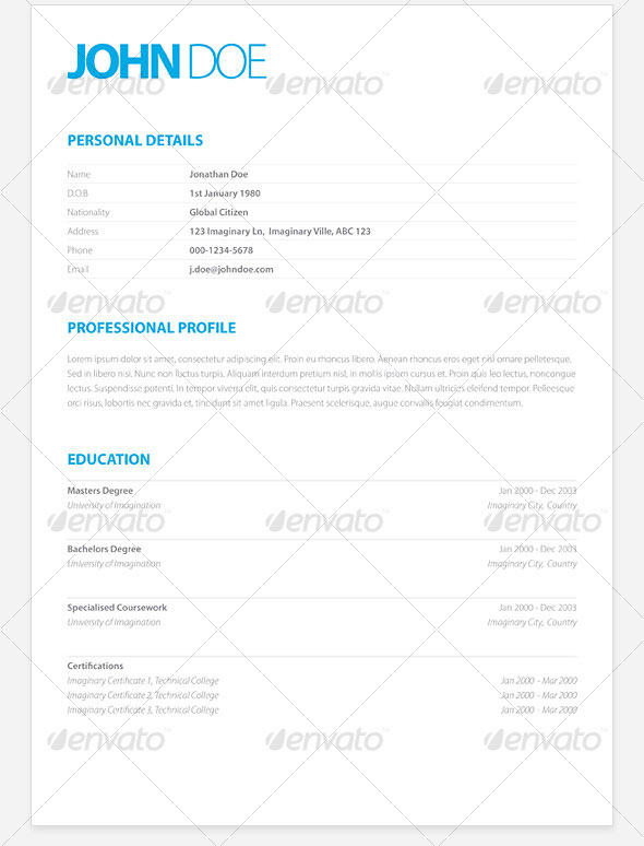 20 Best Resume Templates | Web & Graphic Design | Bashooka