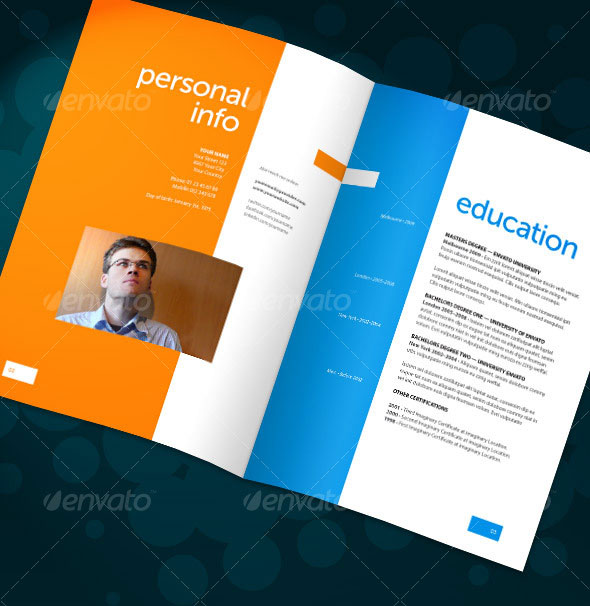 20 best resume templates web graphic design bashooka for Personal brochure templates
