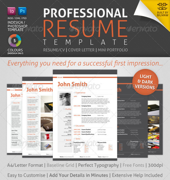job resume template download free for mac creative curriculum vitae professional - Download Professional Cv Template