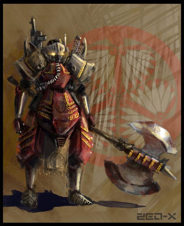 steampunk samurai knight