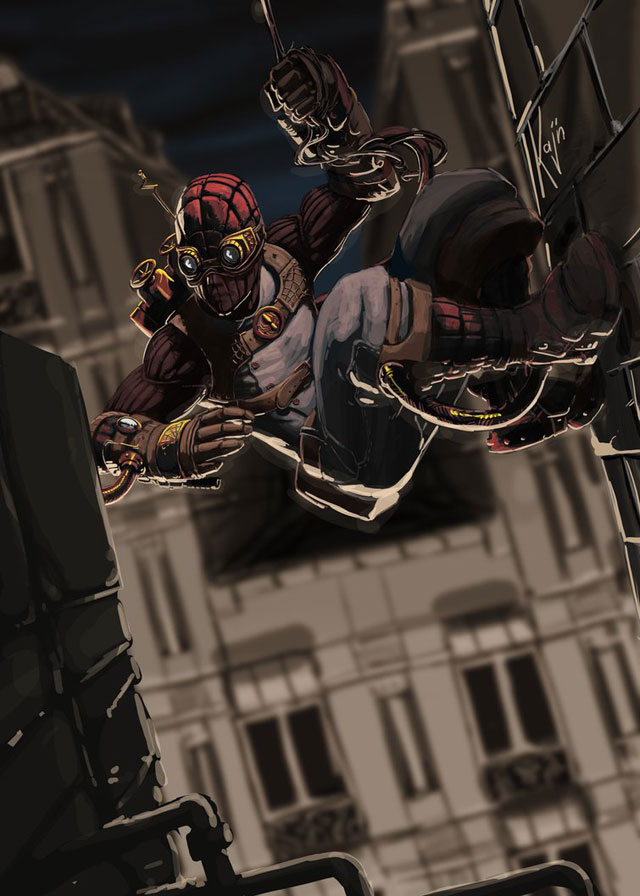 Spiderman steam punk