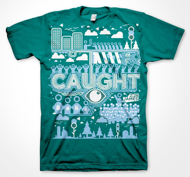 caught - Cool Tshirt Design Ideas