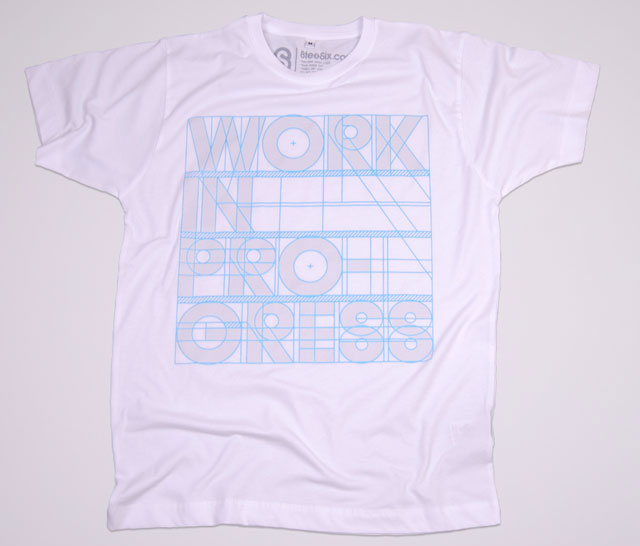 Work in Progress Typography T Shirt