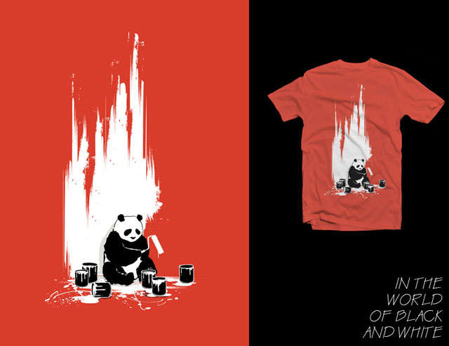 Designs For T Shirts Ideas cool designer tshirts for your pleasure all of these shirts come in men and womens sizes and are on sale from 19 at designbyhumans by affiliate In The World Of Black And White