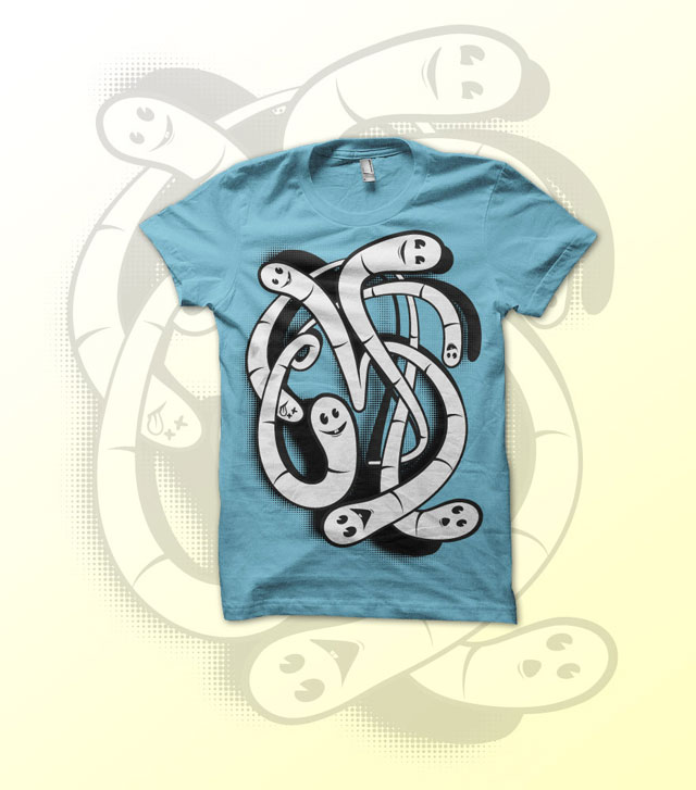 cool t shirt design ideas web graphic worms1 cool tee shirt design ideas - Cool T Shirt Design Ideas