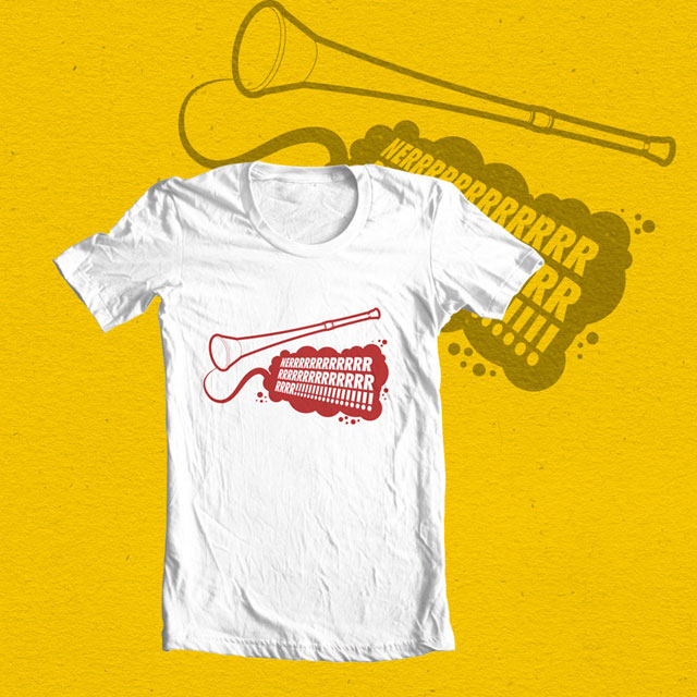 Vuvuzela Tee by Heyindy