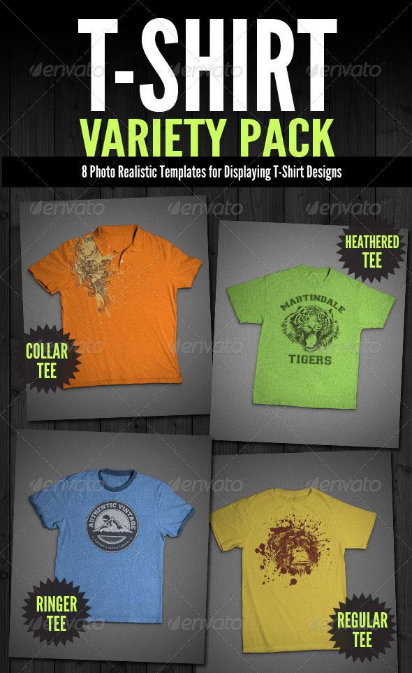 T-Shirt Mock-Ups - Variety Pack
