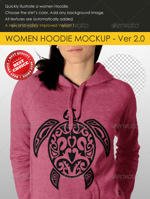 Professional Women Hoodie Mock Up