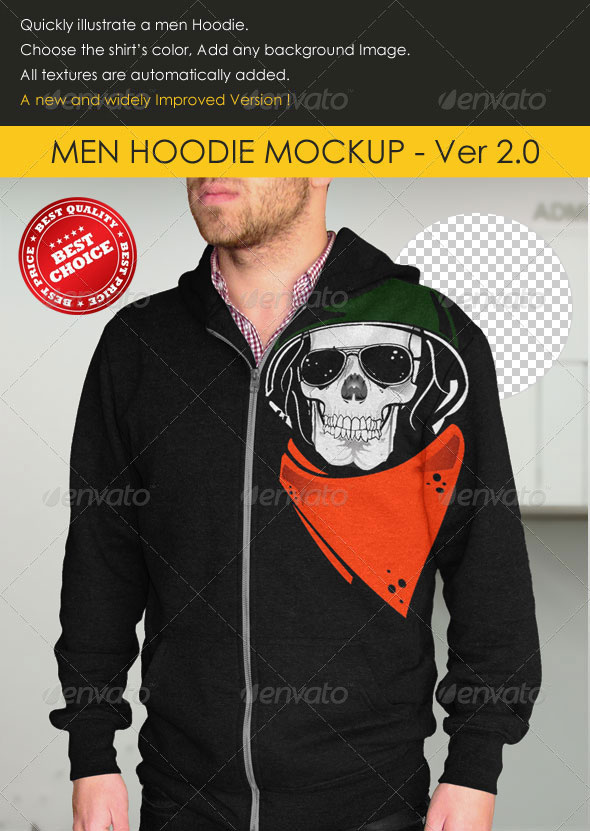 Professional Men Hoodie Mock-up