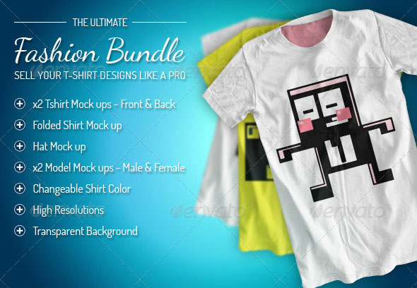 Fashion Bundle - x3 T-shirt / x2 Models / Hat