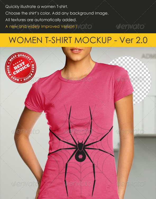 Professional women T-Shirt Mock-up