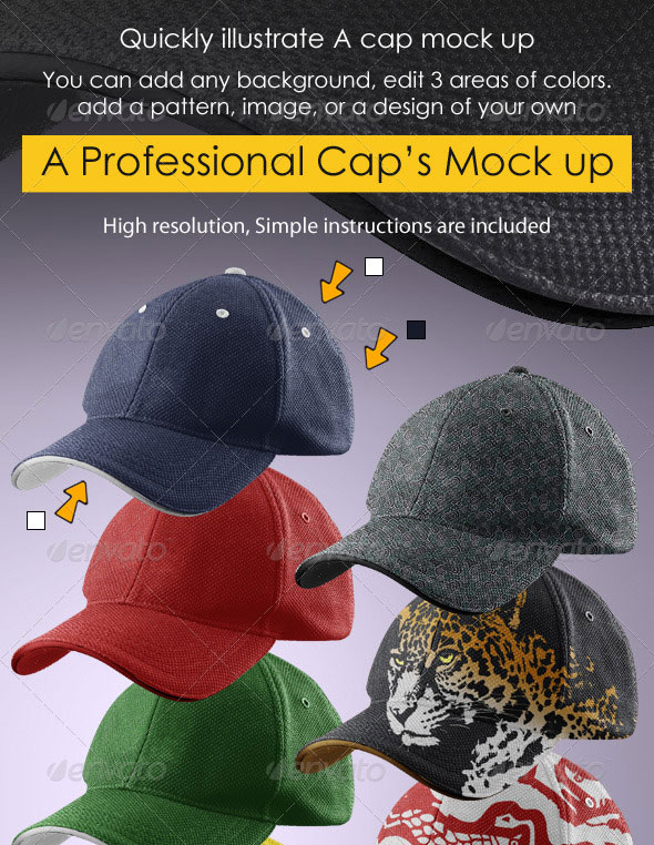 Professional Cap Mock-up