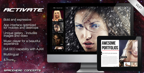 Activate - Creative and Responsive WordPress Theme