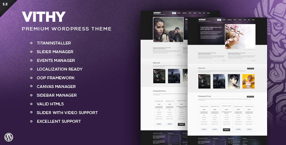 Vithy - WordPress Portfolio Theme