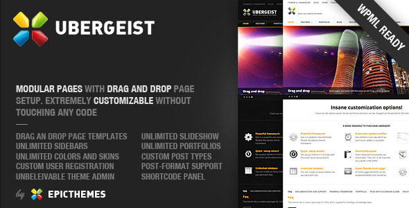 Ubergeist - All-purpose WordPress theme