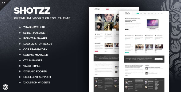 Shotzz - Premium WordPress Theme