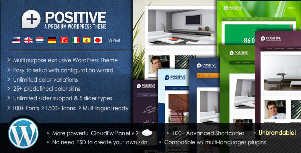 Positive - Premium Multipurpose WordPress Theme