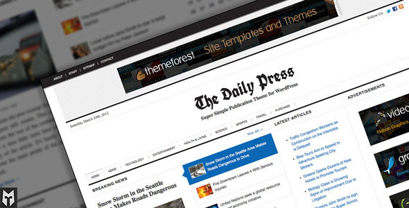 The Daily Press: Super Simple WP Publication Theme
