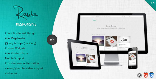 Rawa - Clean / Responsive / Minimal / WordPress
