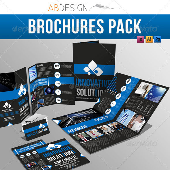 Creative Fold PhotoshopIndesign Brochure Templates Web - Photoshop tri fold brochure template free