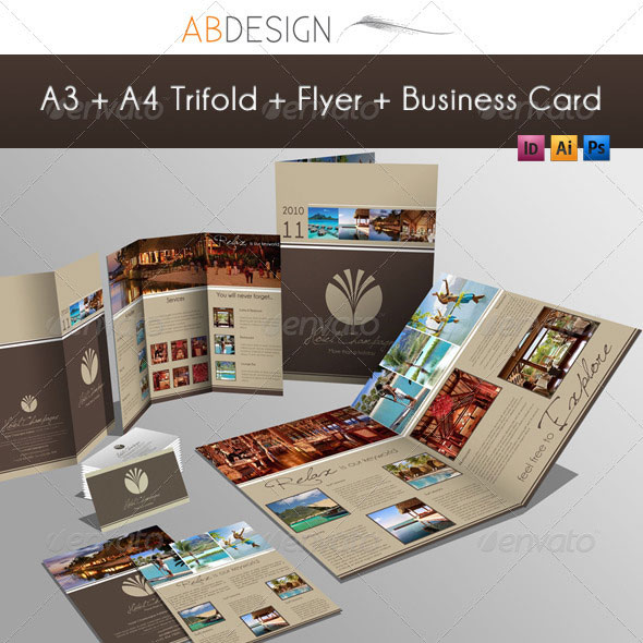 Creative Fold PhotoshopIndesign Brochure Templates Web - Brochure design templates indesign