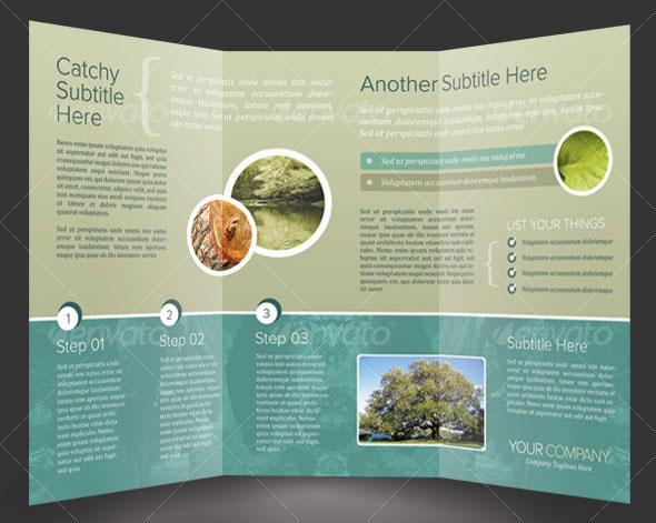 Tri Fold Brochure Design Template - 3 folded brochure template