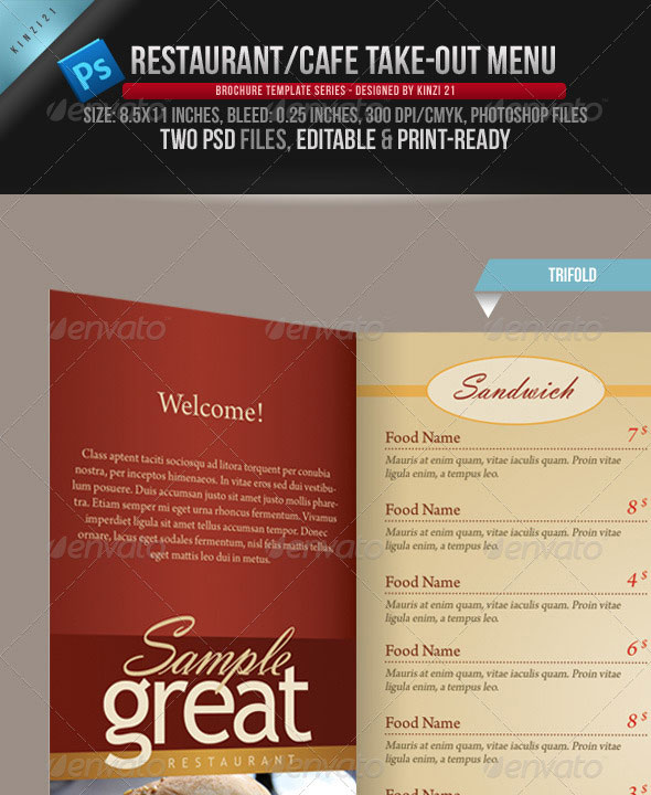 Creative Fold PhotoshopIndesign Brochure Templates Web - 3 fold menu template