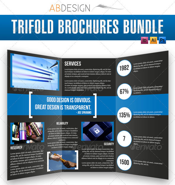 14 Creative 3 Fold Photoshop/Indesign Brochure Templates | Web ...