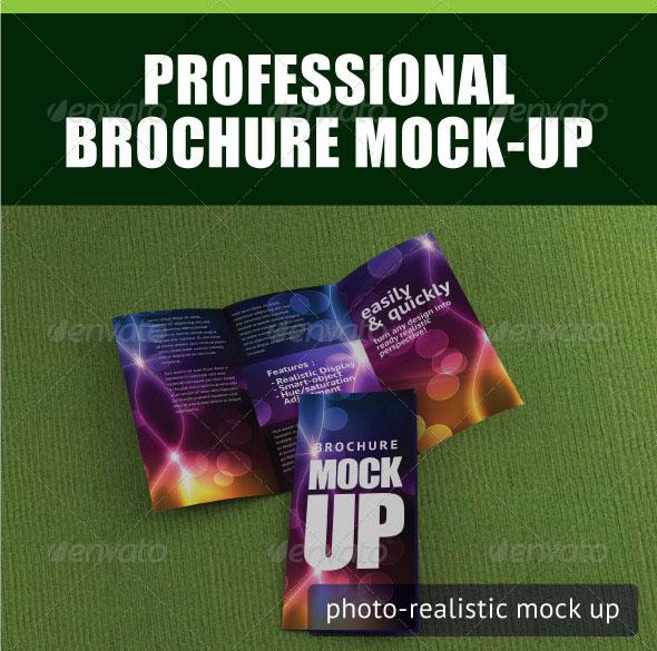 Professional Trifold Brochure Mock-Up