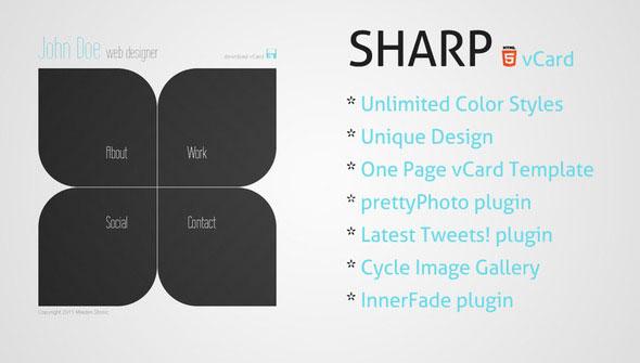 Sharp - HTML5 Premium vCard