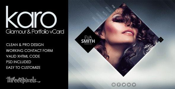 Karo - Virtual Business Card Template