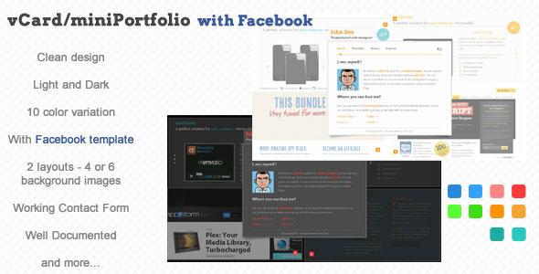 vCard/miniPortfolio with Facebook Template