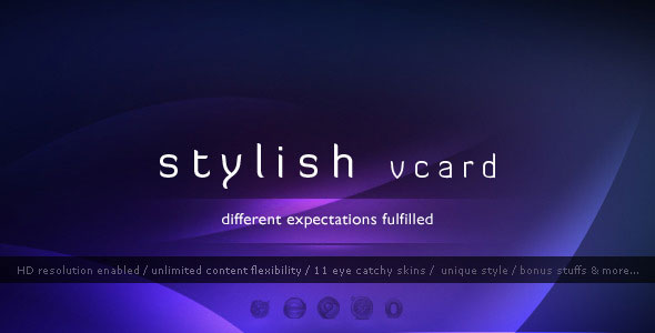 Stylish Vcard - 11 Modern Skins - HTML