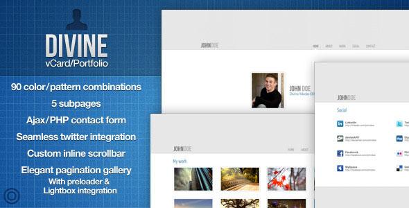 Divine - vCard/Portfolio - With AJAX Contact Form