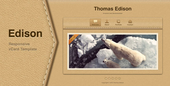 Edison - Responsive vCard Template