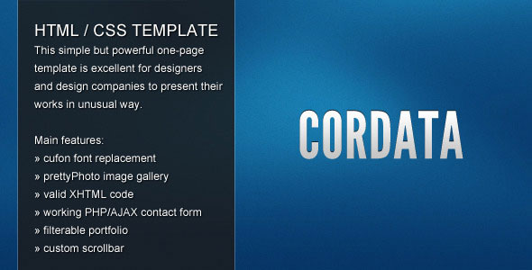Cordata - one-page template