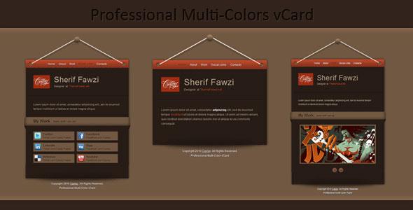 Professional Multi-Color vCard