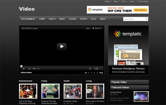 5 Amazingly Free Video Wordpress Themes | Web & Graphic Design ...