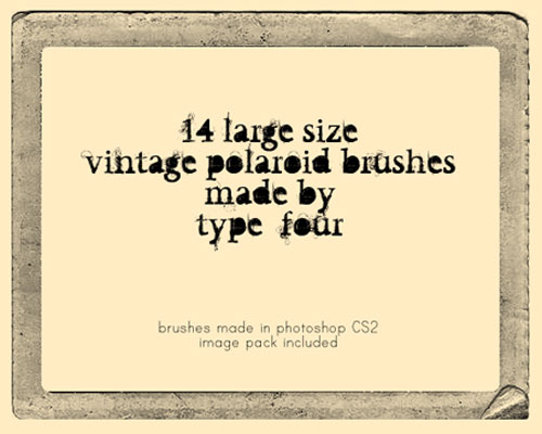 vintage polaroid brushes